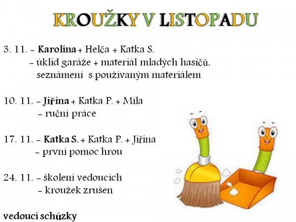 KROUŽKY V LISTOPADU